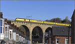 Network rail Hst test train leaves Durham.