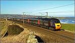 2015 02 08.43321 X/C Hst on the11.05 Edinburgh-Bristol T/Meads heads south at Spittal.